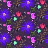 Картина лета яркой голубой ночи флористическая Стоковые Фото
