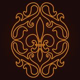 Картина лилии Стоковое фото RF