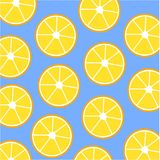 Картина лимона на голубой предпосылке иллюстрация штока