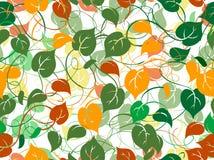 картина листва безшовная Стоковая Фотография RF
