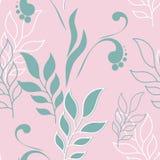 Картина листьев вектора милая безшовная Большой комплект элементов мяты флористических Стоковое Изображение RF