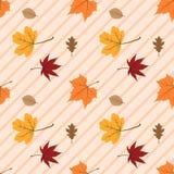 Картина 08 листьев осени безшовная стоковое изображение