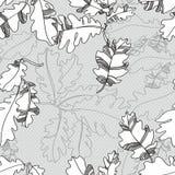 Картина листьев осени дуба. безшовная картина. Стоковое Изображение