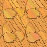 Картина макаронных изделий вектора нарисованная рукой безшовная Стоковое Изображение RF