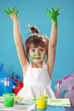 картина малыша девушки Стоковое Фото