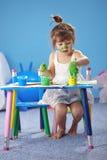 картина малыша девушки Стоковое фото RF