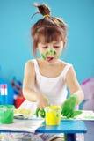 картина малыша девушки Стоковое Изображение