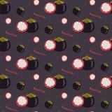Картина манго безшовная повторяя, плоский дизайн Экзотический тропический f иллюстрация штока