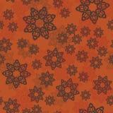 Картина мандалы или флористические элементы случайно организовали декоративный орнамент Безшовная плитка предпосылки картины в ар Стоковые Фотографии RF