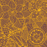 Картина мандалы цветка внутри Стоковое Фото