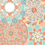 Картина мандалы цветка внутри Стоковые Изображения