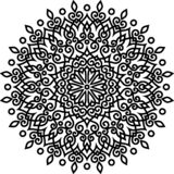 Картина мандалы черно-белая Бесплатная Иллюстрация