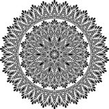 Картина мандалы черно-белая иллюстрация штока