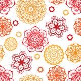 Картина мандал солнечных теней на светлой предпосылке Стоковое Изображение