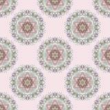 Картина мандалы безшовного цвета флористическая Стоковая Фотография RF