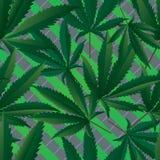 Картина марихуаны безшовная иллюстрация вектора