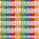 картина маск масленицы безшовная Искусство зажима растра Стоковые Фотографии RF