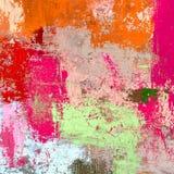Картина маслом на холсте handmade Текстура абстрактного искусства цветастая текстура современное художественное произведение Ходы Стоковое Фото