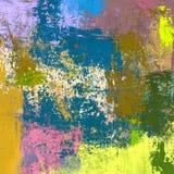 Картина маслом на холсте handmade Текстура абстрактного искусства цветастая текстура современное художественное произведение Ходы Стоковая Фотография RF