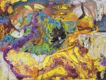 Картина маслом, художник римское Nogin, беседа женщин ` серии ` Стоковые Изображения RF