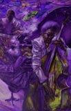, картина маслом, художник римское Nogin, звуки ` серии джаза ` Стоковые Фото