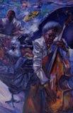 , картина маслом, художник римское Nogin, звуки ` серии джаза ` Стоковая Фотография RF