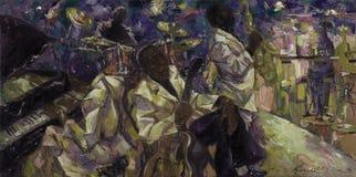 , картина маслом, художник римское Nogin, звуки ` серии джаза ` Стоковая Фотография