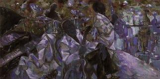 , картина маслом, художник римское Nogin, звуки ` серии джаза ` Стоковое Фото