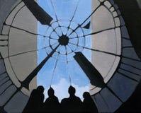 Картина маслом времени и пространства текстурированная конспектом Стоковое фото RF
