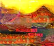 Картина маслом коллажа Стоковая Фотография
