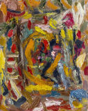Картина маслом красивого цвета импрессионизма первоначально с Стоковые Фотографии RF