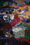 Картина маслом структуры Стоковые Фото
