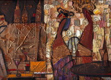 Картина маслом текстуры автор крася римское Nogin Стоковая Фотография