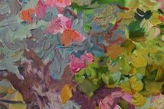Картина маслом текстуры, крася автор римское Nogin Стоковые Фотографии RF