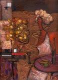 Картина маслом текстуры, крася автор римское Nogin Стоковая Фотография RF