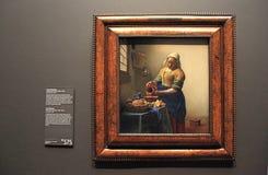 Картина маслом Milkmaid Johannes Vermeer в Rijksmuseum, Стоковое Фото