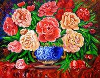 Картина маслом - Rose Стоковое Фото