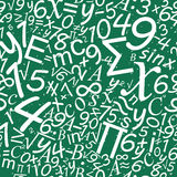 Картина математики безшовная, предпосылка стола школы Стоковое Фото