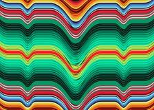 Картина мексиканского вектора цвета нашивок одеяла multi striped Типичная красочная сплетенная ткань от Центральной Америки иллюстрация вектора