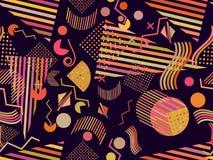 Картина Мемфиса безшовная Абстрактные безшовные картины 80 стилей ` s ` s-90 вектор бесплатная иллюстрация