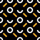 Картина Мемфиса безшовная Геометрическая безшовная картина в стиле 80s Ретро мотив Стоковое Изображение RF