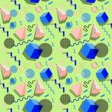 Картина Мемфиса геометрических форм для ткани и открыток Стоковые Фотографии RF