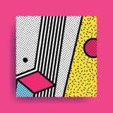 Картина Мемфиса красочной тенденции нео геометрическая Стоковые Фото