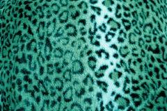 Картина меха печати зеленого леопарда животная - ткань Стоковые Изображения