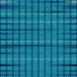 Картина меланжа стиля безшовная связанная Голубой цвет Vec бирюзы Стоковое Изображение