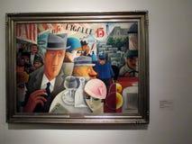 Картина Мигелем Covarrubias, который подвергли действию в Malba Буэнос-Айрес Аргентину стоковое изображение
