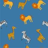 Картина милого вектора животная для иллюстрации и ткани бесплатная иллюстрация