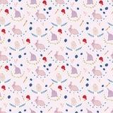 Картина милого кролика безшовная Предпосылка для малышей Стоковые Изображения RF