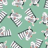 Картина милой зебры безшовная Стоковая Фотография RF