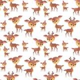 Картина милой семьи оленей безшовная бесплатная иллюстрация